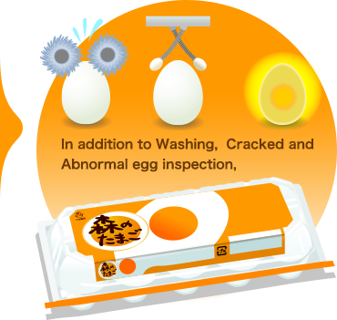 In addition to Washing,  Cracked and Abnormal egg inspection,